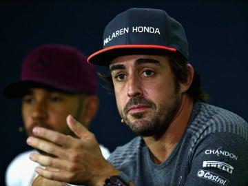 Fernando Alonso en rueda de prensa en Montreal