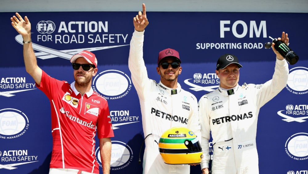 Vettel, Hamilton y Bottas, los más rápidos de la Q3