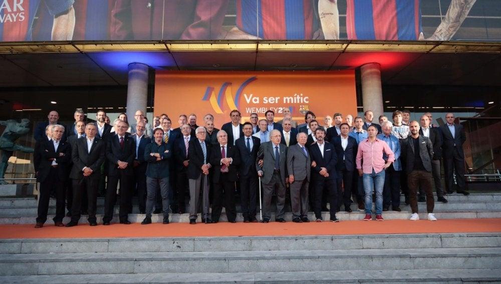 El Barcelona del 'Dream Team' de nuevo unido