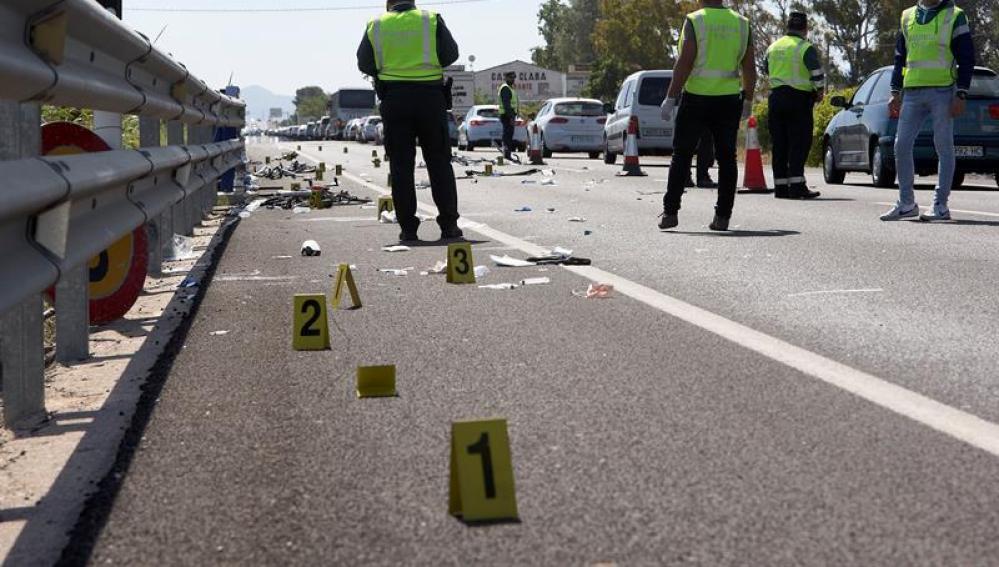 Carretera donde tres ciclistas perdieron la vida en Oliva
