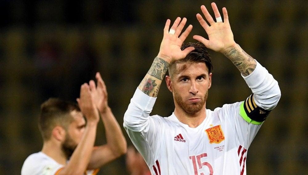 Sergio Ramos, tras la victoria ante Macedonia