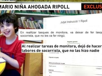 Frame 26.341558 de: Cuatro monitores y el responsable de la piscina tendrán que responder por la muerte de una niña de 4 años en Ripoll
