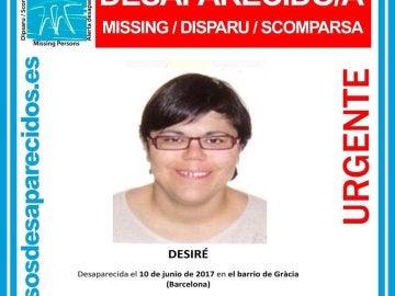 Desaparecida en Barcelona