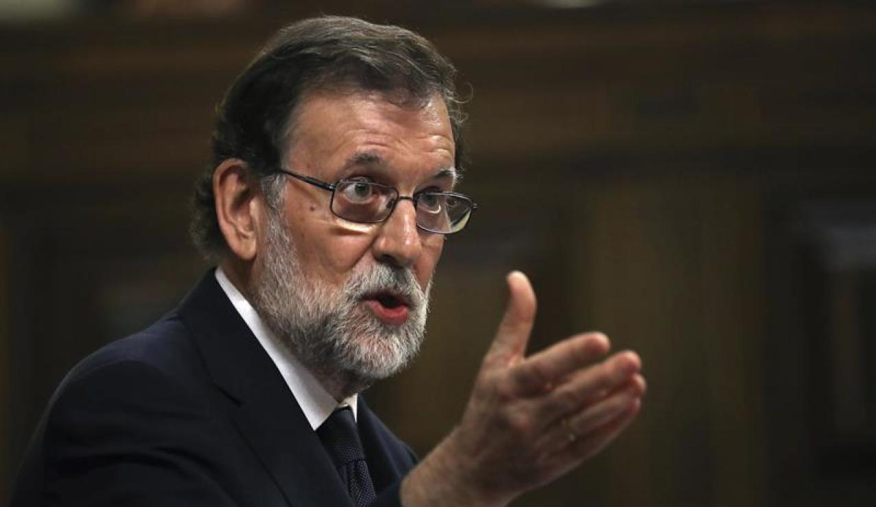Mariano Rajoy, durante su intervención en la moción de censura