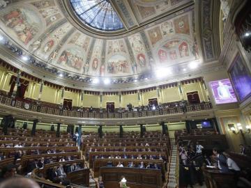 Hemiciclo durante la moción de censura