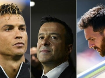Cristiano, Jorge Mendes y Messi