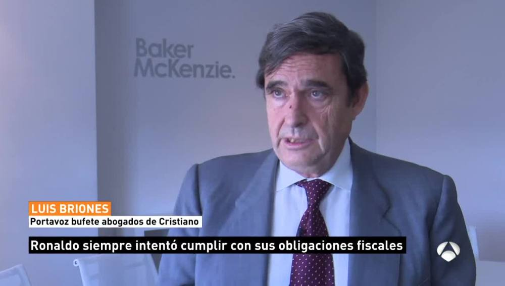 Luis Briones, portavoz del bufete de abogados de Cristiano