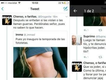 Capturas de pantalla de Twitter