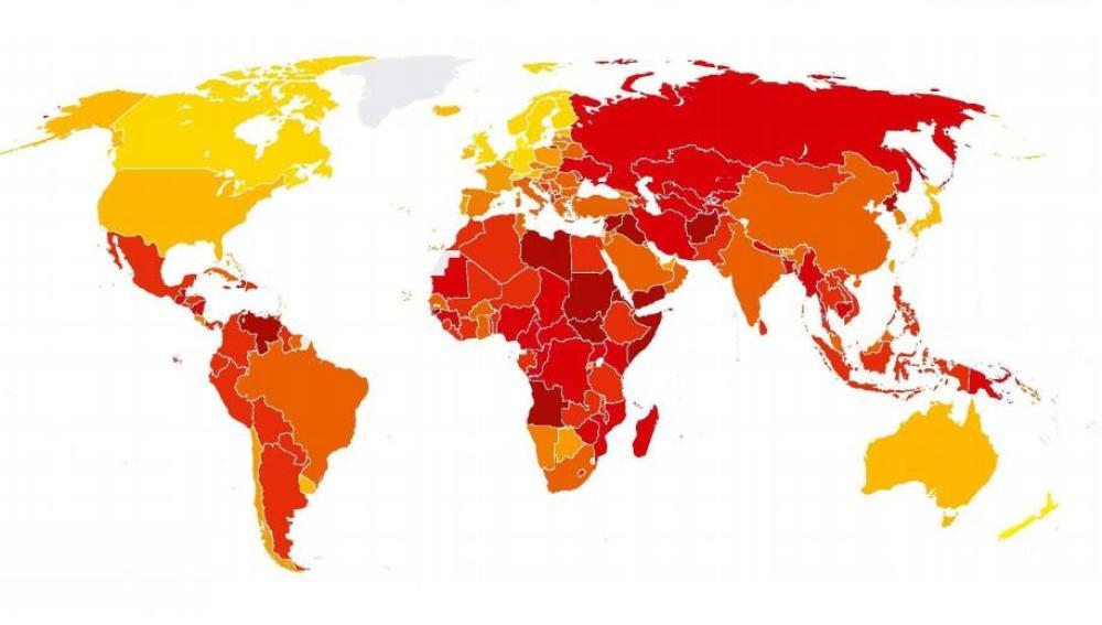 Mapa mundial de la corrupción
