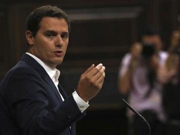 Albert Rivera, en el debate de la moción de censura