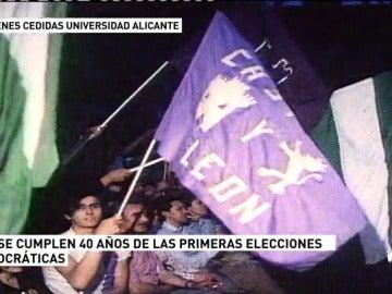 Este jueves se celebra el 40 aniversario de las primeras elecciones tras la dictadura franquista en España