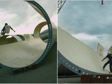 Skaters, entre molinos de viento