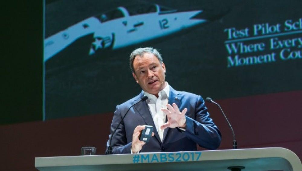 El astronauta Michael López-Alegría, en el #MABS2017