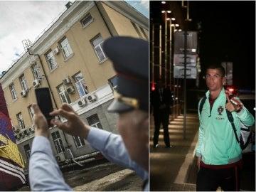 Locura en Rusia con la llegada de Cristiano Ronaldo
