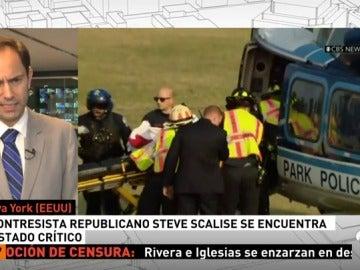 Trump visita al congresista Steve Scalise en el hospital tras el tiroteo a las afueras de Washington