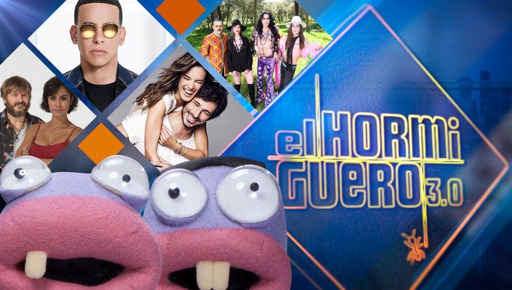Daddy Yankee, Nancys Rubias, Alessandra Ambrosio y Andrés Velencoso, Salva Reina y Megan Montaner en 'El Hormiguero 3.0'