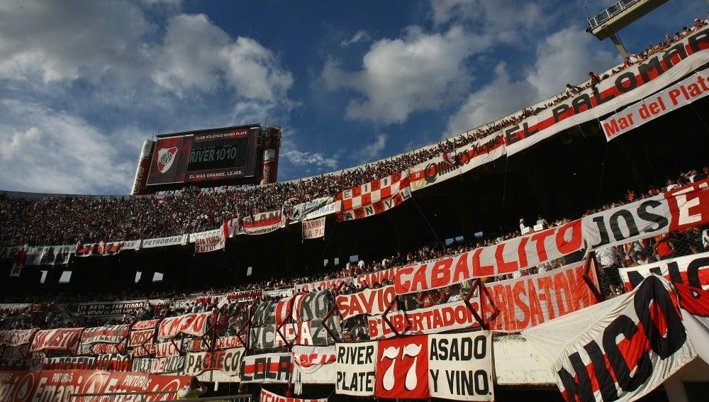 La grada del Estadio Monumental, en Argentina