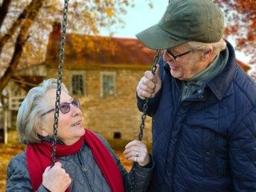 Personas mayores en el parque