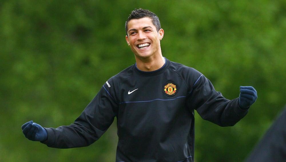 Cristiano Ronaldo, en su época como jugador del Manchester United