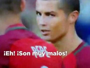 Cristiano habla con Pepe durante la Copa Confederaciones