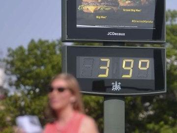 Un termómetro de los grados registrados en Córdoba