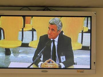 Imagen tomada de un monitor de la sala de prensa de la Audiencia Nacional