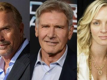 Kevin Costner, Harrison Ford y Uma Thurman