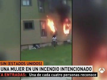 Incendio intencionado en una vivienda