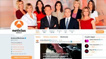 Twitter de Antena 3 Noticias