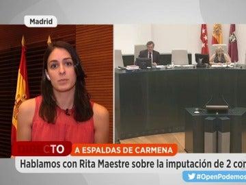 Rita Maestre, sobre el Open de tenis de Madrid