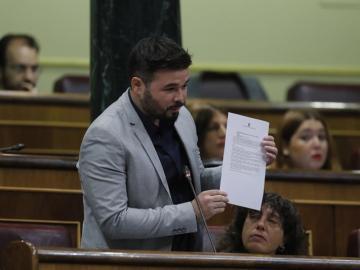 El portavoz de ERC, Gabriel Rufián