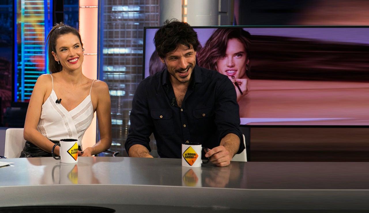 Alessandra Ambrosio y Andrés Velencoso en El Hormiguero