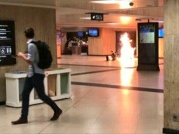 Así fue la explosión en la Estación Central que pudo provocar una nueva tragedia en Bruselas