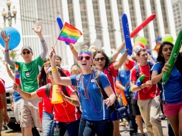 Empleados de Google celebran el Orgullo