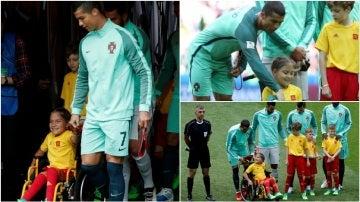 Cristiano Ronaldo y su gesto humano con una niña en silla de ruedas