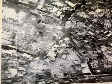 Imágenes de la mezquita de Mosul destruida
