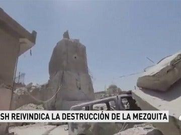 Daesh publica un vídeo en el que muestra los restos de la mezquita de Mosul destruida