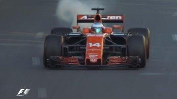 Avería del McLaren Honda de Alonso en Bakú