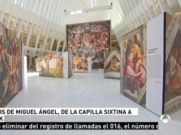 Los frescos de la Capilla Sixtina, en Nueva York
