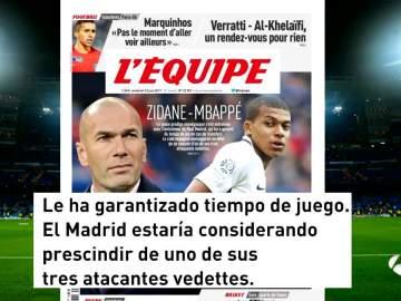 Conversación entre Zidane y Mbappé