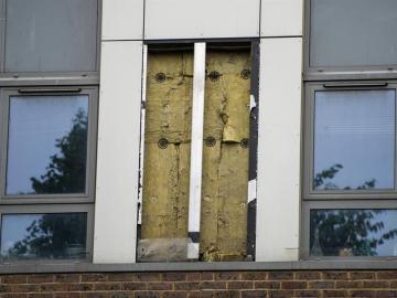 Uno de los edificios desalojados en Londres