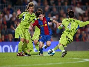 Leo Messi anota su histórico gol al Getafe