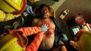 Fernando Soto vive en su propia piel el accidente de Ángel en 'La casa de papel'