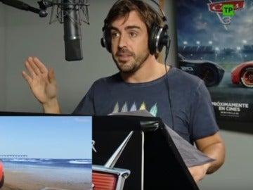 Fernando Alonso, en el doblaje de 'Cars 3'