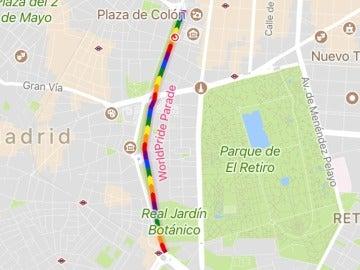 Google Maps muestra el recorrido del desfile del Orgullo