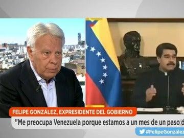 """Felipe González, sobre los venezolanos: """"Están peleando por algo que se lucha cuando se pierde, que es ser libres"""""""