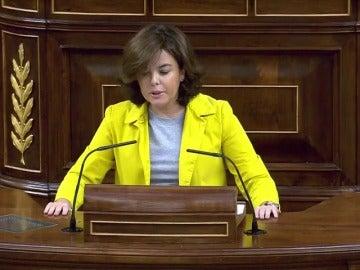 Sáenz de Santamaría: No se puede ser equidistante entre más Europa o más Marine Le Pen o más Pablo Iglesias