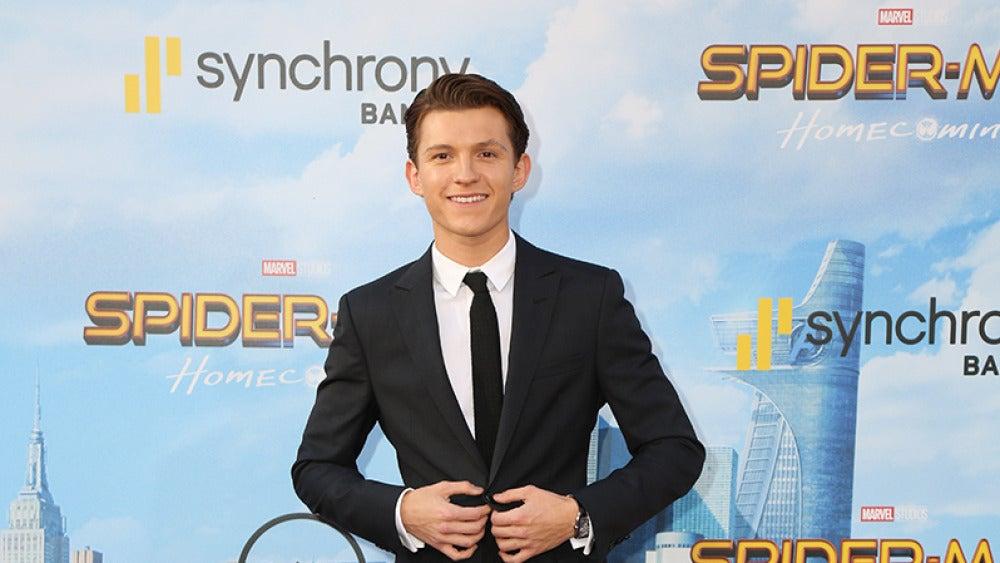 Tom Holland en la premiere de 'Spiderman: Homecoming'