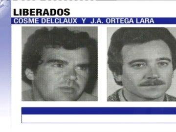 El funcionario Ortega Lara era rescatado de un zulo y ETA liberaba al empresario Delclaux