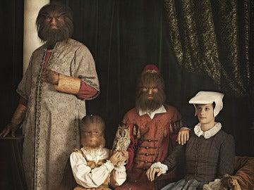 Pedro González con su familia